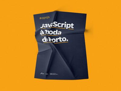 OPO.js - Porto JavaScript Community posters javascript js community branding design logo brand