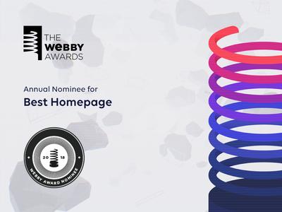 Webby Awards Annual Nominee ux ui webdesign homepage moxy webby nominee awards