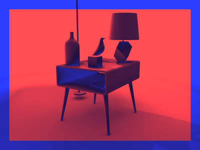 Stretch Furniture design loop animation moxy motion color c4d ae 3d