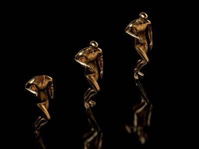 Dancing fools gold 3d animation render c4d 3d moxy loop design motion animation
