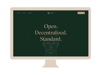 Nomios Wallet - Landing Page wallet app wallet app dx uiux brand identity identity open source landing page branding decentralization