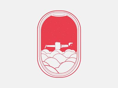 Airplane window vector ae brand illustration moxy loop design motion animation