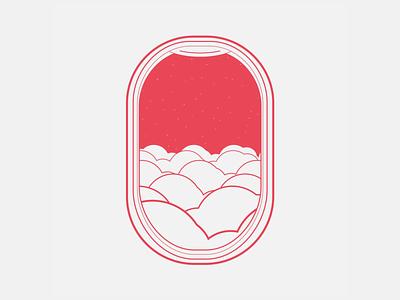 Airplane window vector ae illustration brand moxy loop design motion animation