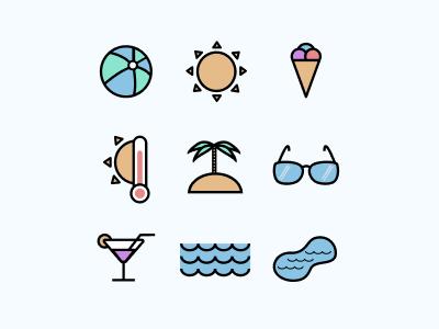 Icon set Summer