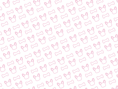 Frenchie and Bone Pattern