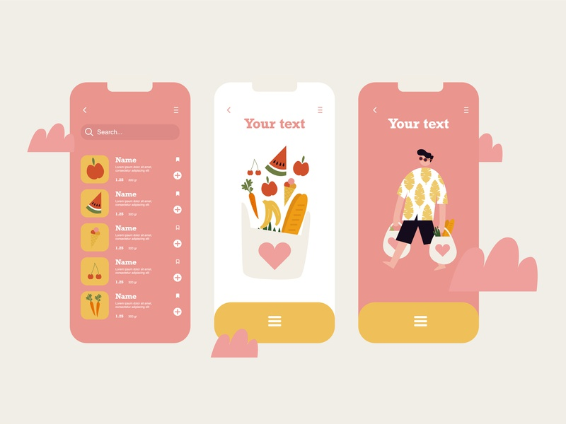 Illustration for app icon ux ui typography app vector illustration design