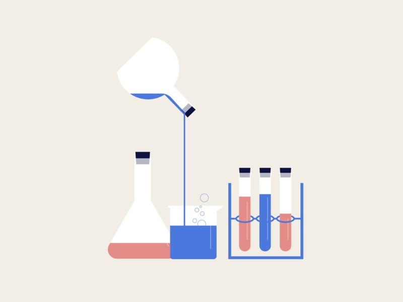 Laboratory vector illustration design