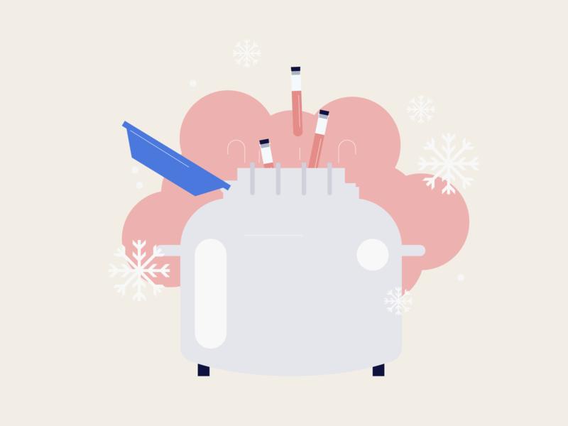 Freezing laboratory vector illustration design