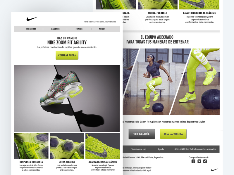 Nike Newsletter Concept email marketing newsletter design design prototype ux ui web design newsletter