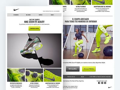 Nike Newsletter Concept email marketing newsletter design design prototype ux ui web design newsletter