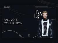 Landing Page | Balmain FW18 Fall Collection