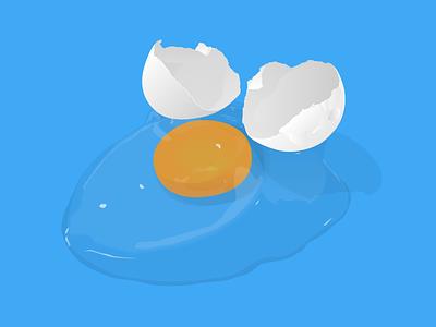 Egg On Blue egg yolk protein shell illustration illustrator chicken