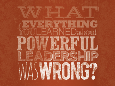 What If? headline question rough distressed grunge grit red type