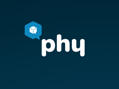 Phy Logo soft rounded navy blue cube nunito logo physical web qr