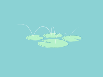 Lily Pads monet pac man pastel water jump frog ghost hop lily pad