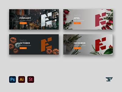 New Edge Media Sesonal Banners illustrator seasonal season theme banner photoshop design adobe