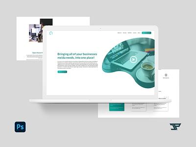 Open House Media Website Design webdesign website concept website design website photoshop design adobe