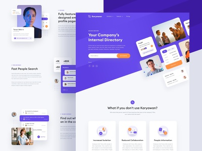 Internal Company Directory website design landingpage homepage company hr userinterface typography appdesign branding userexperience interaction brand design app android design ux minimal ios interface ui