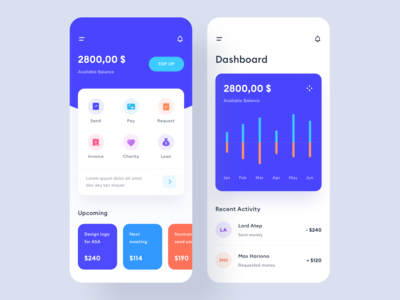 Money management app design