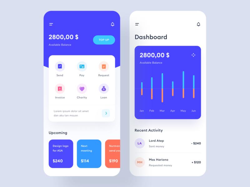 Money management app design by Stan Vision on Dribbble