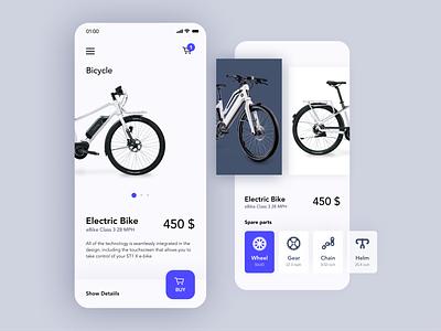 Bicycle store App mobile app eccomerce ux ui clean bike app bicycle store product page minimalistic ios online shop bicycle app bicycle