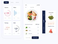 Concept of Diet App. Smart Plate