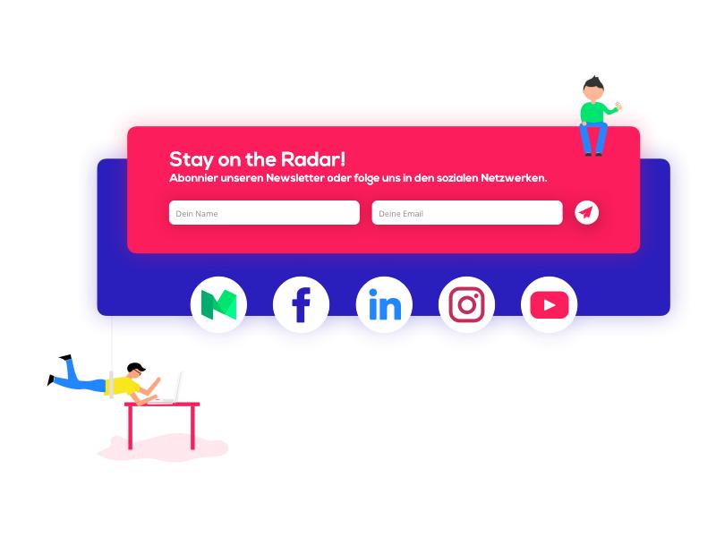 StartUp Newsletter Section socialmedia startup newsletter webdev