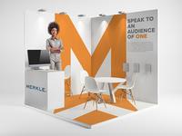Merkle 2019 Trade show Booth Concept 2