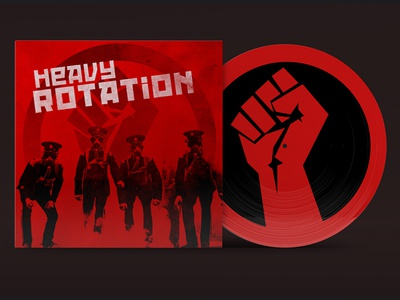 Heavy Rotation Mar 17' Cover music design cover art packaging album art