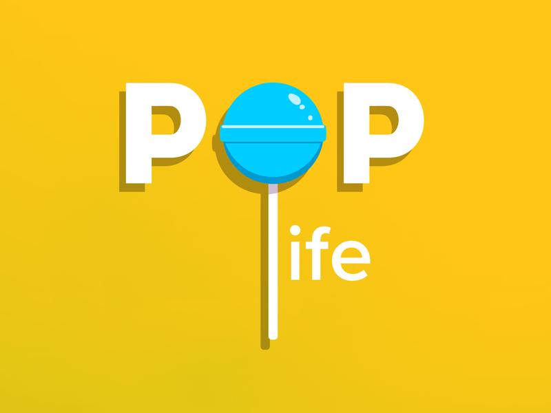 Pop Life identity music cover art album art typography illustration