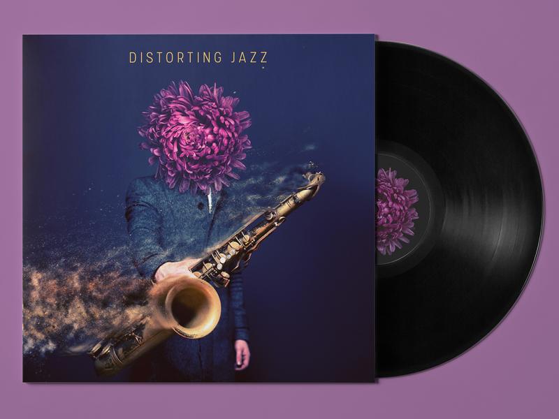 Distorting Jazz Cover Art surrealism album cover music cover art album art