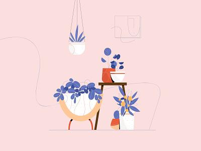 Stylized indoor plants stylized indoor plant plants vectorart minimal illustrator illustration design vector
