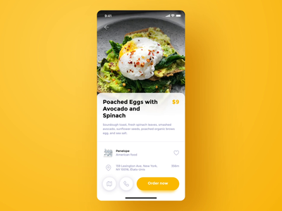 Miam iphone yellow animated ui animated aftereffects interface motion mobile ui brand food app mobile uxdesign ui  ux uiux ui uidesign app design food app