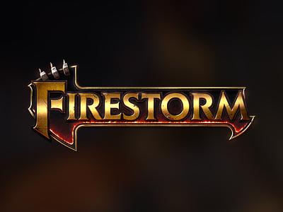 Firestorm logo dimitri le roch logotype dimz gold orc heroic fantasy wow warcraft logo game