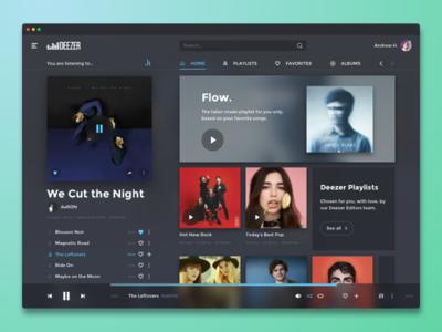 Deezer redesign (desktop app) player spotify desktop gray dimz ux app music deezer redesign interface ui