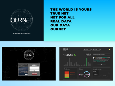 """Ournet"" Branding concept and Dashboard"