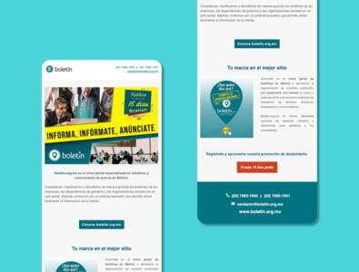 """""""Boletín.org.mx"""" e-Mailing template 2"""