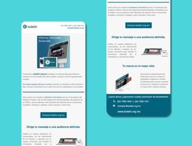 """""""Boletín.org.mx"""" e-Mailing template 1"""