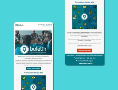 """""""Boletín.org.mx"""" e-Mailing template 3"""