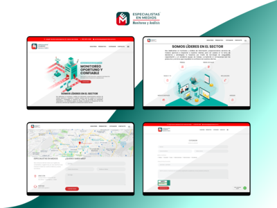 """""""Especialistas en Medios"""" Awareness Site - Desktop"""