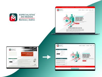 """""""Especialistas en Medios"""" Sign in integration - Desktop"""