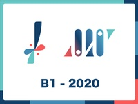"""B1-2020"" Analytics company logo design"
