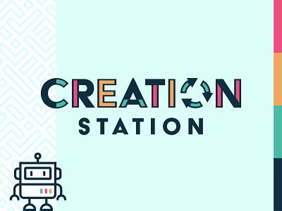 Creation Station — LOGO (Unused Direction) recycle robot design flat logodesign logos logo