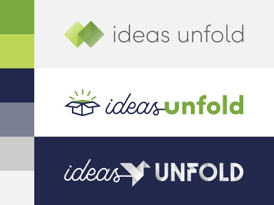 ideas unfold  -  Logo Exploration edmonds washington simple branding seattle design modern logo brand clean