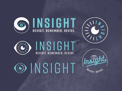Insight Logo Design eye app tone 2 modern clean process logo