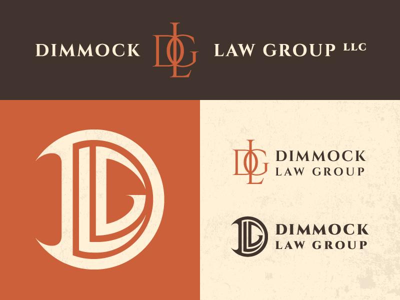 Dimmock Law Group pnw washington seattle branding lawyer law sharp cool vintage modern logo brand