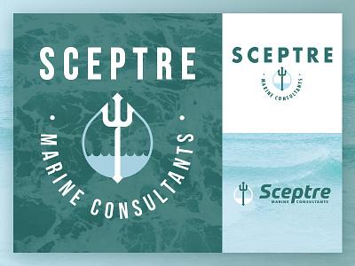 SCEPTRE MC  |  Logo Design water seattle marine ocean trident sea clean modern vintage logo