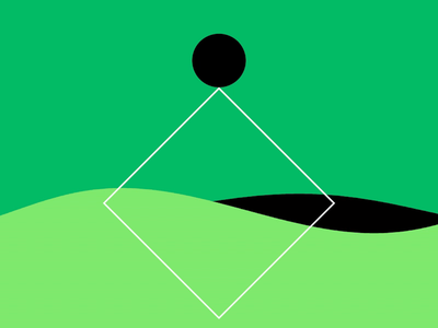 journey in green three flow state animation motion graphics after effects