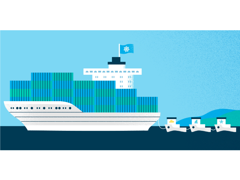 Kubernetes containers kubernetes graphic design pivotal digital digital illustration adobe illustrator illustrator illustration