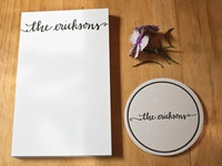 Wedding Gift - Personalized Stationary and Coasters